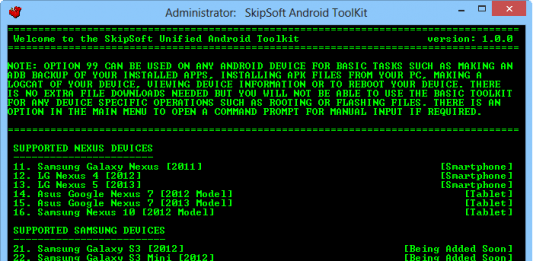 Download Unified Android Toolkit