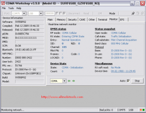CDMA Workshop DFS Software