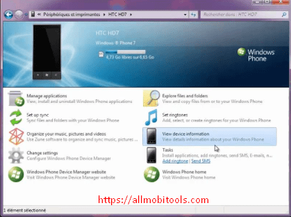 Download Windows Phone Device Manager