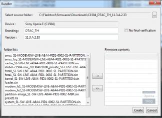 Sony Xperia Flash Tool