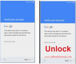 FRP Lock Google Verification Bypass Tool Software