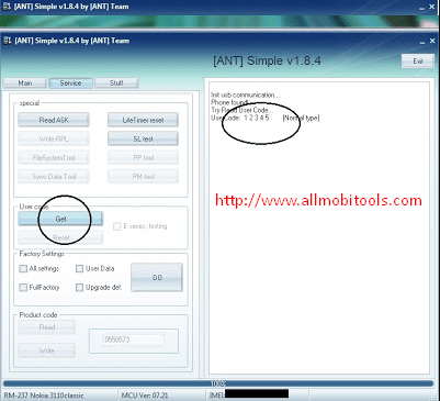 ANT Security Code.exe (Nokia Security Code Unlocker) v1.8.4 Free Download