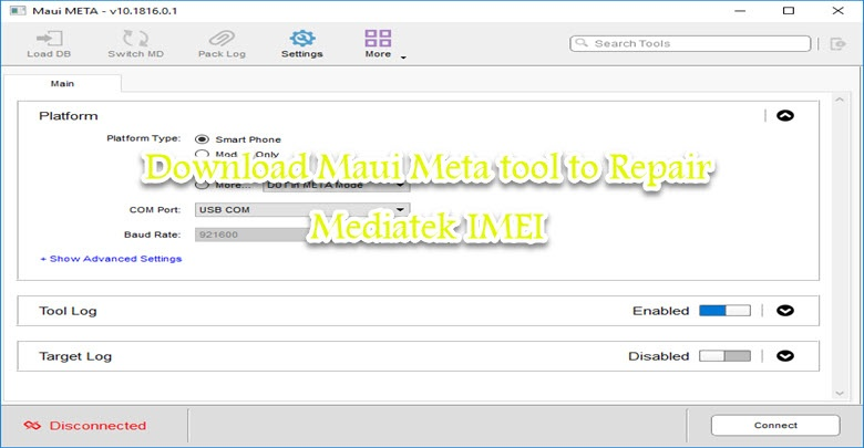 Maui Meta 3G/4G MTK imei Repair Tool v10.1816.0.01 Latest Version Free Download