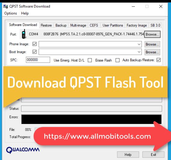 QPST Qualcomm Flash Tool (2020) Latest Setup Free Download