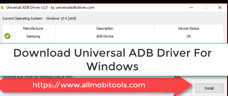 Download Universal Android ADB Drivers For Windows XP/Vista/7/8/10