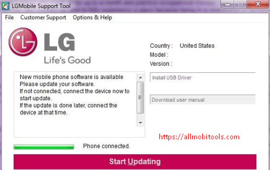 Download LG Mobile Support Tool