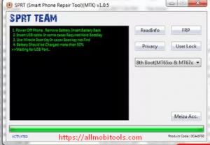 Download MTK FRP Unlock/Bypass/Remove/Reset Tool