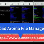 Download AROMA File Manager 2.00 ZIP