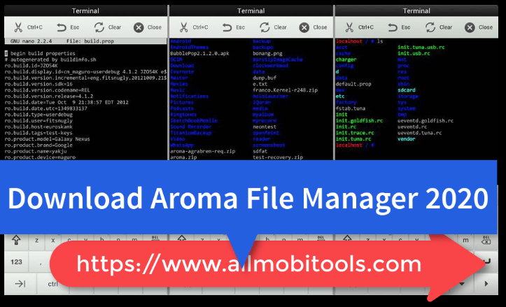 Download AROMA File Manager 2.00 ZIP (2020) Latest Version