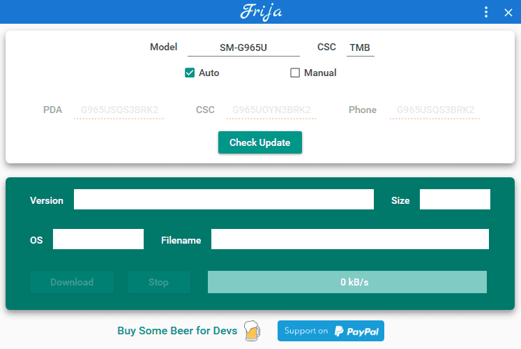 Frija - Samsung Firmware Downloader/Checker Tool Free Download