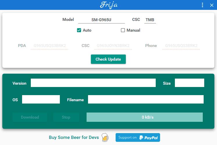 Frija - Samsung Firmware Downloader/Checker Tool Free Download