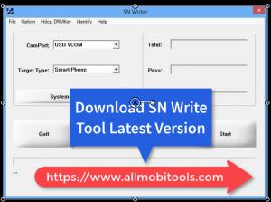 Download MTK imei Sn Write Tool