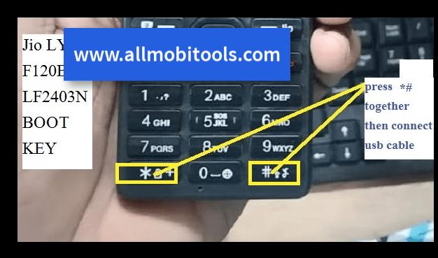 LYF Jio Boot Keys